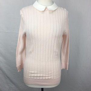 Ted Baker Blush Pink Harlis Scallop Collar Sweater